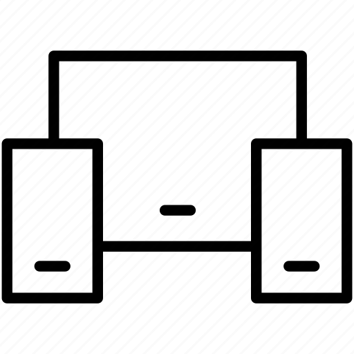 pc, phone, responcive icon icon