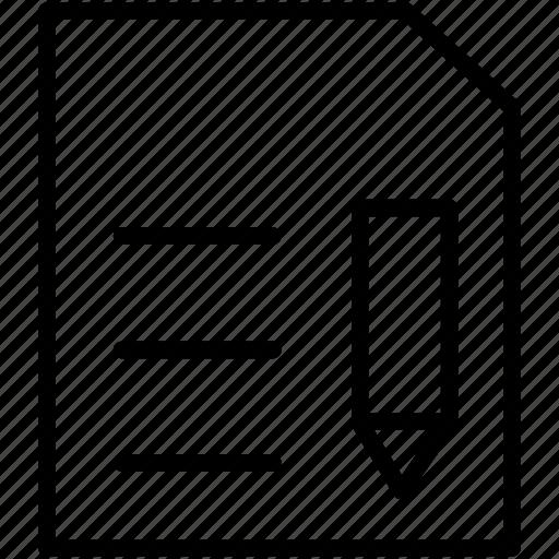 document, edit, file, pencil icon icon icon