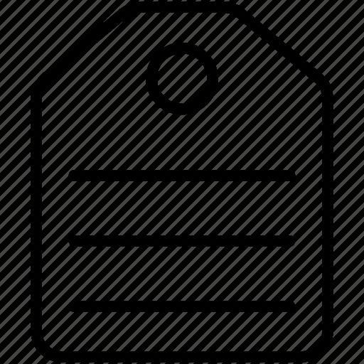 label, price, tag icon icon