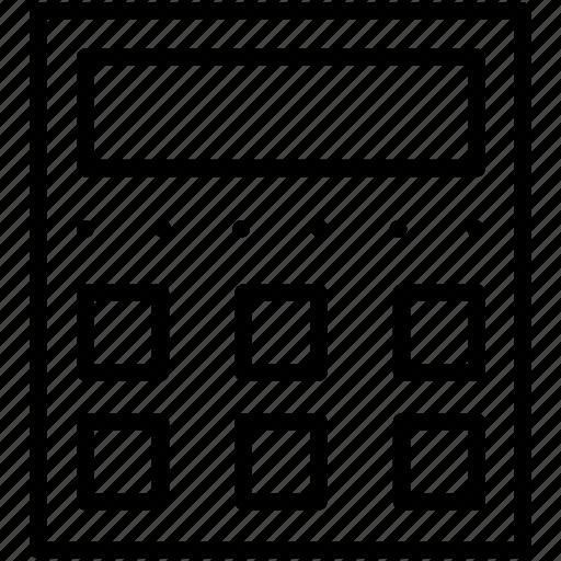 calculator, machine icon icon