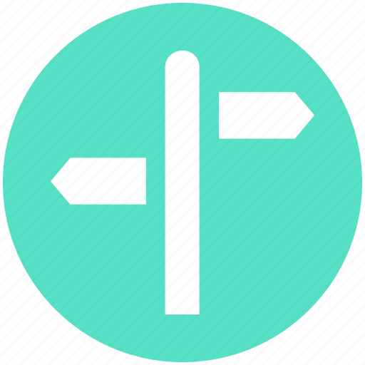 direction, index, road sign, sign, two, way icon