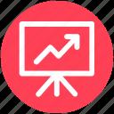 analytics, board, business, chart, graph, presentation icon