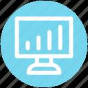 chart, diagram, graph, lcd, lcd graph, monitor, statistic