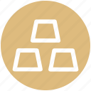 brick, bricks, business, finance, firewall, gold, wall icon