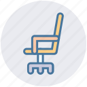 chair, director, furniture, interior, office, seat icon
