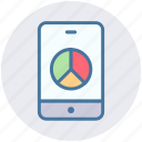 mobile chart, mobile phone, mobile pie chart, pie, pie chart, smartphone icon
