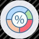 circle, diagram, graph, loading, percentage, pie, pie chart icon
