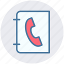 book, bookmark, contact, contacts book, phone, telephone book icon