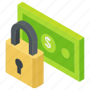 business encryption, financial insurance, financial protection, money protection, safe banking icon