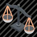 balance, balance scale, equality, level, scale icon