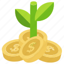 assets, capital, finance, investment, venture icon