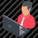 employee, employee desk, freelancer, workplace, workstation icon