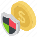 finance security, banking., currency protection, cash safety, european currency icon