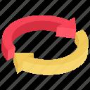 arrow circle, arrow cycle, arrow refresh, arrow ui, recycling symbol icon