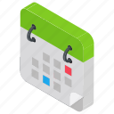calendar timetable, daily routine, schedule planning, time management icon