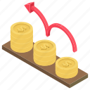 business analysis, business profit, financial analysis, growth chart, profit icon
