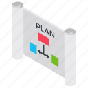 business management, business planning, flowchart, project management, project plan icon