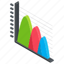 curve graph, data visualization, distribution graph, graphical representation, parabola graph icon
