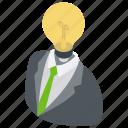 creative businessman, creative person, marketing idea, marketing strategy, smart businessman icon