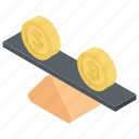 balance of payment, business concept, financial assets, financial balance, financial condition icon