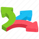 arrow path, business choice, business options, career choice, priorities icon