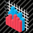 bar graph, column graph, creative chart, data visualization, modern infographics icon