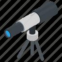 astronomy, spyglass, telescope, search, vision icon