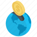 global charity, online charity, online donation, online funding, online fundraising icon
