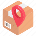 cargo location, delivery address, delivery location, shipping address, shipping location icon