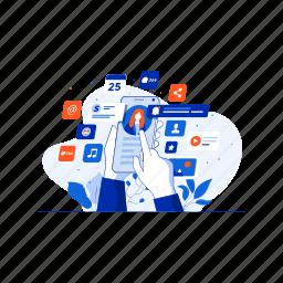 communication, media, multimedia, phone, social, video