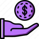 business, finance, give, marketing, money icon