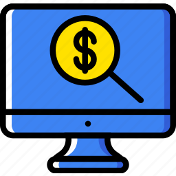 business, currency, finance, marketing, search icon