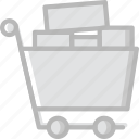 full, shopping, finance, business, marketing, cart icon