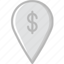 business, finance, location, marketing, money icon