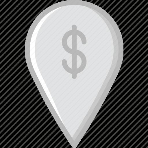 business, finance, location, marketing, money icon