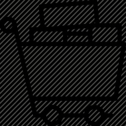business, cart, finance, full, marketing, shopping icon