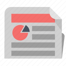 business, news, newspaper, office, report icon