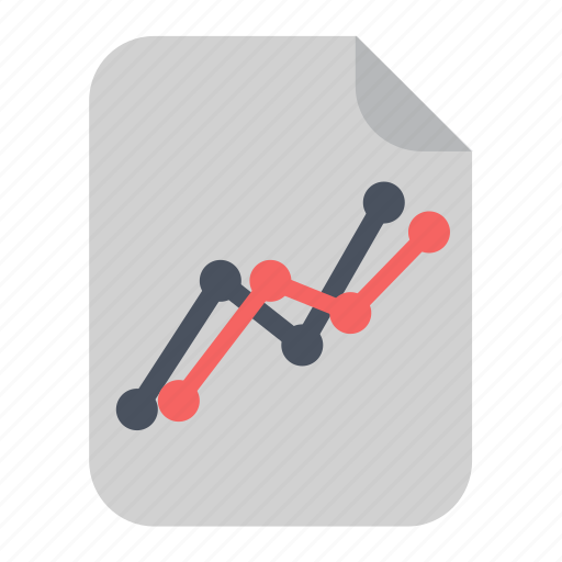 chart, document, graph, line, paper, report icon