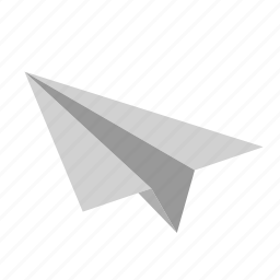 document, mail, message, paper, plane, toy icon