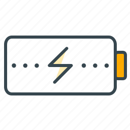 battery, business, charging, electricity, energy, office icon
