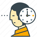 business, clock, deadline, employee, office, time icon