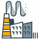 building, business, factory, office, production icon
