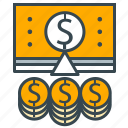 business, cash, finance, growth, money, office icon