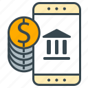 bank, business, cash, finance, mobile, mobility, office icon