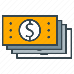 business, cash, finance, flow, money, office icon