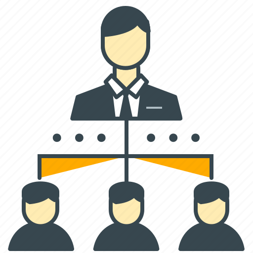 business, employee, hierarchy, office, organization, staff icon