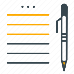 business, checklist, document, office, pen, planning icon