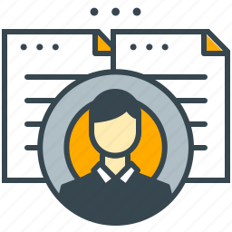 business, curriculum, employee, office, portfolio, staff, vitae icon