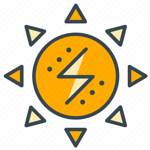 business, electric, electricity, energy, office, solar, sun icon