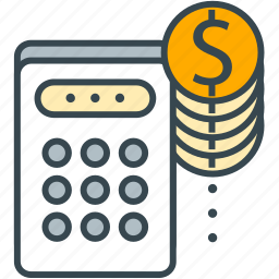 business, calculator, finance, financing, money, office icon